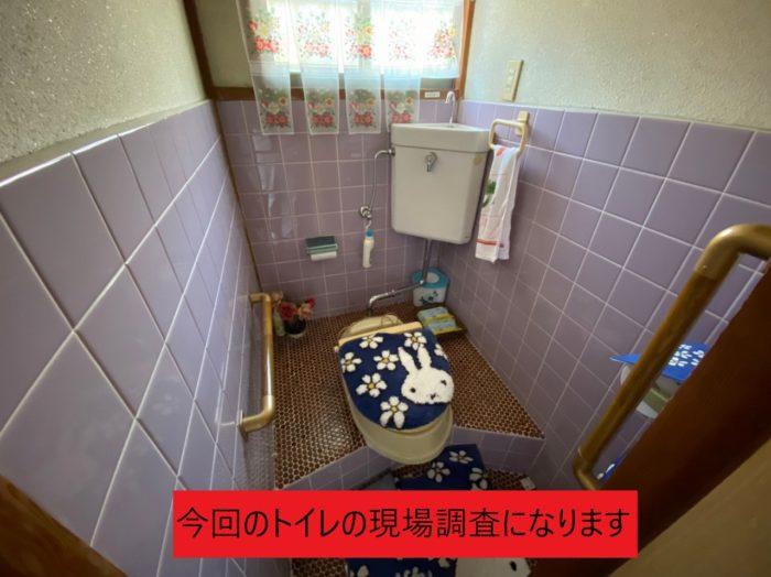 トイレの現場調査