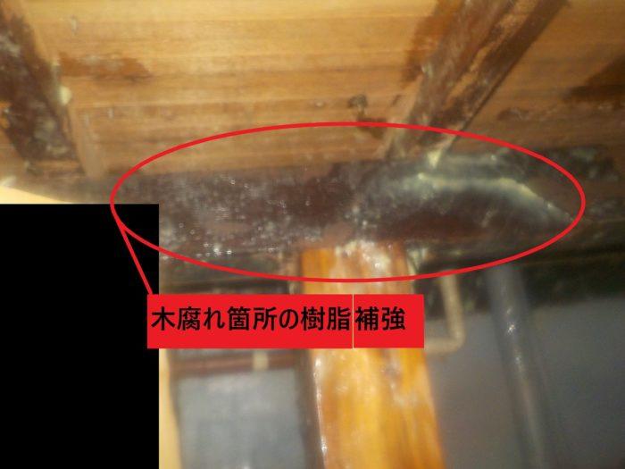木腐れ樹脂補強