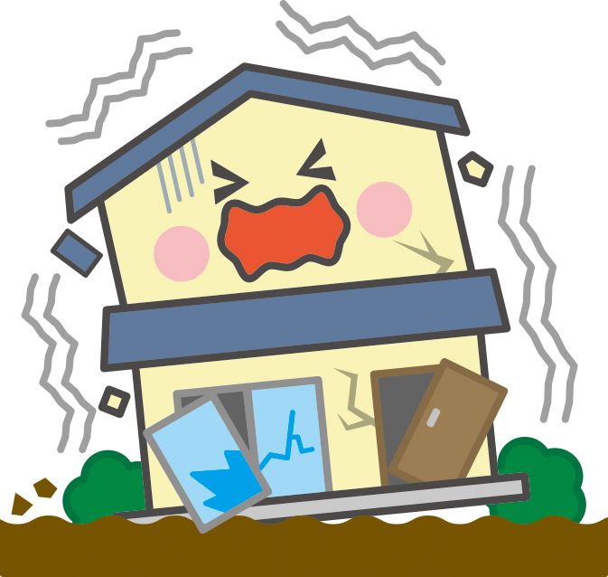 地震 イラスト