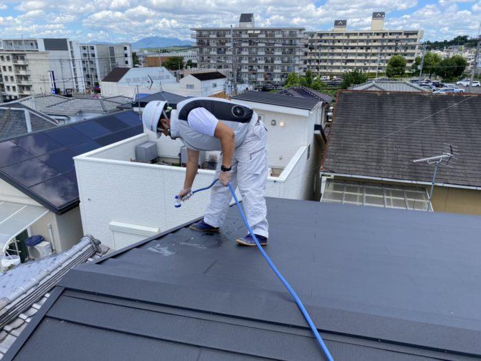 屋根流水テスト