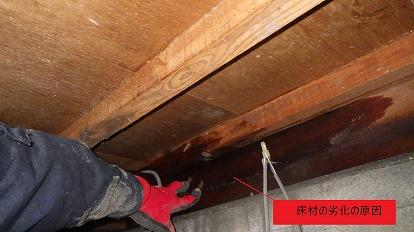 床材の劣化の原因